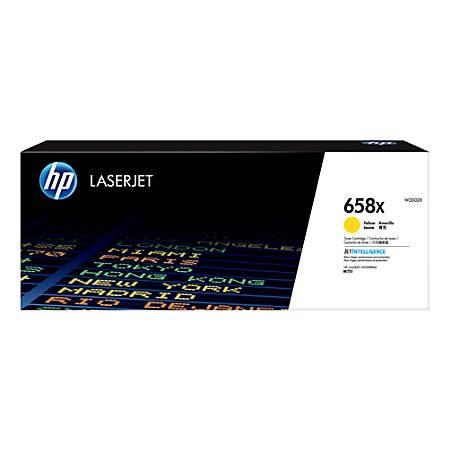 HP 658X LaserJet High-Yield Toner Cartridge, Yellow (W2002X)