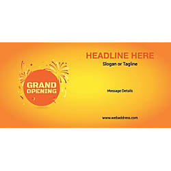 Custom Horizontal Banner Grand Opening