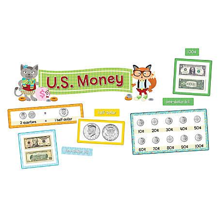 Carson-Dellosa Hipster U.S. Money Mini Bulletin Board Set, Multicolor, Grades K-2