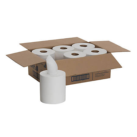 """SofPull® by GP PRO Centerpull Regular Capacity Paper Towels, 1-Ply, 15"""" x 7 4/5"""", 320 Sheets Per Roll, Case Of 6 Rolls"""