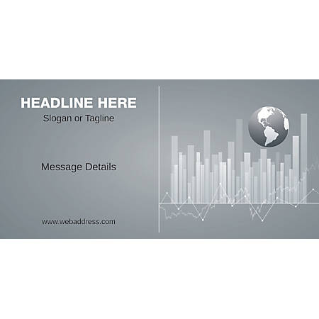 Custom Horizontal Banner, Business Globe