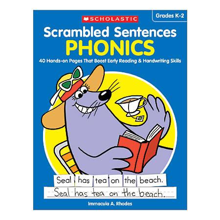 Scholastic Teacher Resources Activity Book Scrambled Sentences, Phonics, Grades K-2