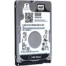 WD Black 500GB 25 Internal Hard