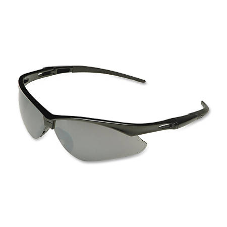Jackson Safety V30 Nemesis Safety Eyewear - Flexible, Lightweight, Comfortable, Scratch Resistant - Ultraviolet Protection - Polycarbonate Lens - Smoke, Black - 12 / Carton