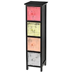 Realspace 4 Drawer Slim Storage Cabinet