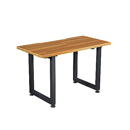 "VARIDESK QuickPro Desk, 48"" x 24"", Butcher Block/Slate"