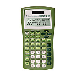 Texas Instruments TI-30X IIS Scientific Calculator - Impact Resistant Cover, Dual Power, Plastic Key - 2 Line(s) - 11 Digits - Battery/Solar Powered - Lime Green
