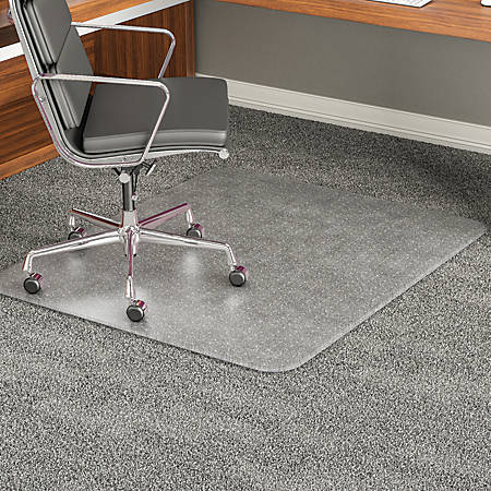 "Deflect-O® ExecuMat Chair Mat For High Pile Carpets, 36"" x 48"", Clear"