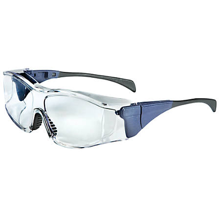 Ambient OTG Eyewear, Clear Lens, Polycarbonate, Uvextreme, Blue Frame