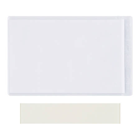 "Office Depot® Brand Super-Scan Press-On Vinyl Envelopes, 8-1/2"" x 11"", Clear, Pack Of 50 Envelopes"