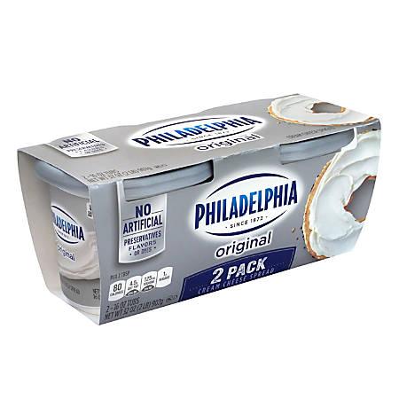 Kraft Philadelphia Regular Cream Cheese Spread, 16 Oz, Pack Of 2 Tubs