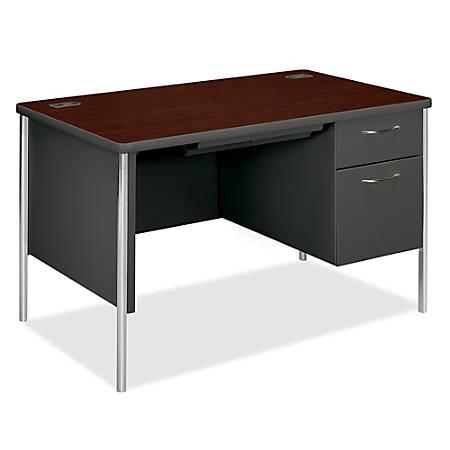 HON® Mentor Right-Pedestal Desk, Mahogany