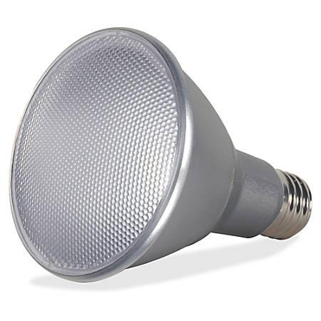 Satco 13-Watt PAR30 LED Bulb - 13 W - 75 W Incandescent Equivalent Wattage - 120 V AC - 950 lm - PAR30LN Size - Silver - Warm White Light Color - E26 Base - 25000 Hour - 4940.3°F (2726.8°C) Color Temperature - 80 CRI - 40° Beam Angle - Dimmable - Reflector, Water Proof - 1 Each
