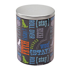 Advantus PawPrints Treat Tin Large Gray