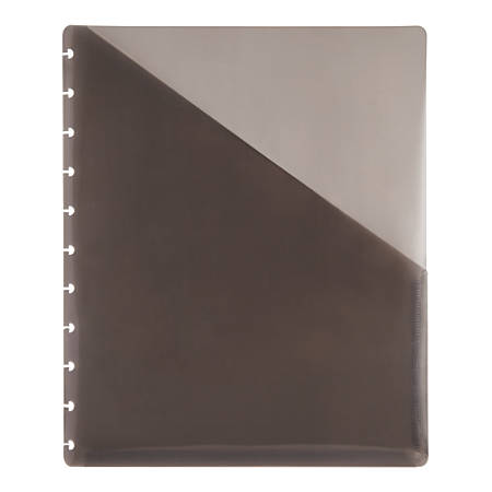 "TUL™ Custom Note-Taking System Discbound Pocket Dividers, 8 1/2"" x 11"", Letter Size, Gray, Pack Of 2"