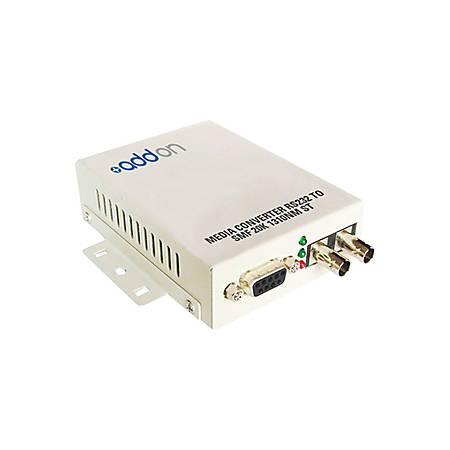 AddOn Serial RS232 to Fiber MMF 1310nm 2km ST Serial Media Converter