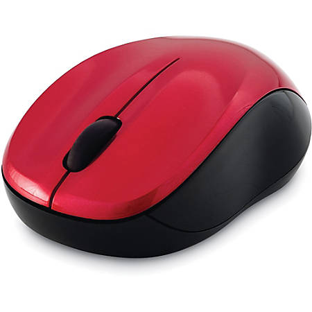 Verbatim Silent Wireless Blue LED Mouse - Red