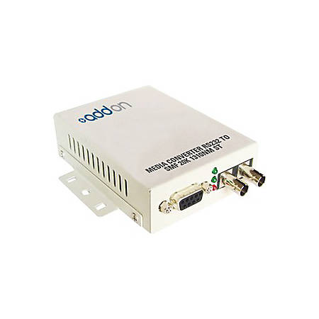 AddOn Serial RS232 to Fiber SMF 1310nm 20km ST Serial Media Converter