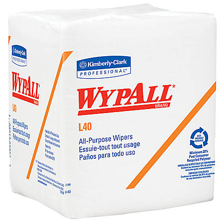 Kimberly-Clark Professional™ Wipers Wypall™ L40, Box Of 18