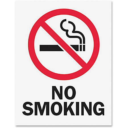 Tarifold Magneto Safety Sign Inserts - No Smoking - 6 / Pack - No Smoking Print/Message - Red, Black Print/Message Color - Tear Resistant, Durable, Water Proof, Sturdy, Long Lasting - Paper - White
