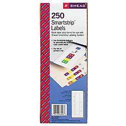 Smead SmartStrip End Tab Labeling System