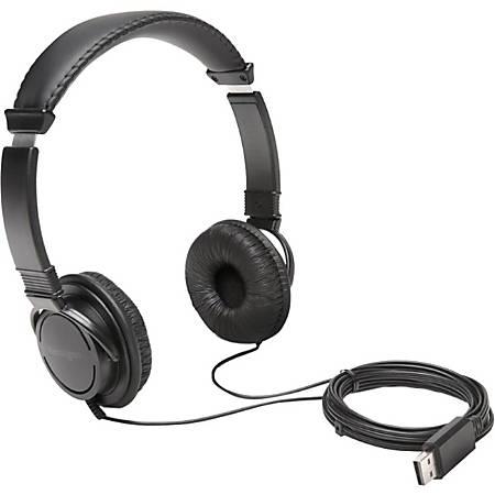 Kensington Hi-Fi USB Headphones - Stereo - USB - Wired - Over-the-head - Binaural - Circumaural - 6 ft Cable