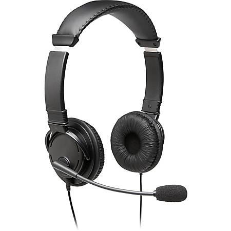 Kensington Hi-Fi USB Headphones - Stereo - USB - Wired - Over-the-head - Binaural - Circumaural - Noise Cancelling Microphone