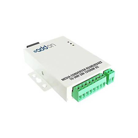 AddOn Serial RS485/RS422 to Fiber SMF 1310nm 20km ST Serial Media Converter