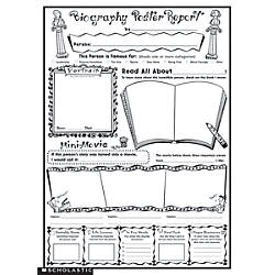 Scholastic Biography Report Posters  X  By Office Depot  Officemax