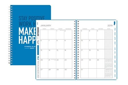 blue sky fitness best make it happen weeklymonthly planner 5 x 8