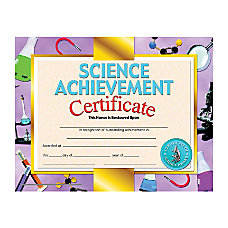 Hayes Science Achievement Certificates 8 12
