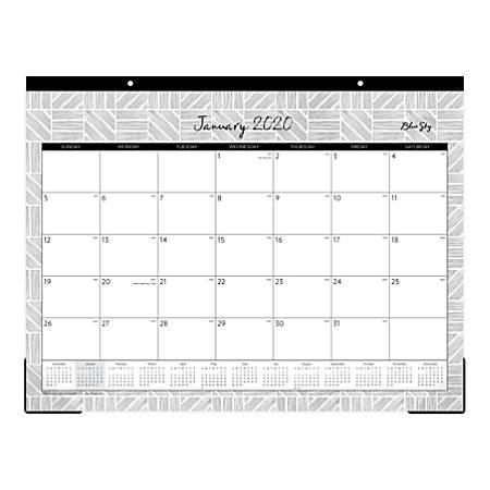 "Blue Sky™ Denver Monthly Desk Pad, 22"" x 17"", January To December 2020, 116095"