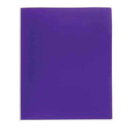 Office Depot® Brand School-Grade 2-Pocket Poly Folder, Letter Size, Purple
