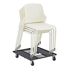 Safco Next Stacking Chairs White Set