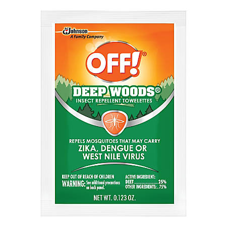 OFF! Deep Woods Insect Repellent Towelettes, 12 Towelettes Per Box, Carton Of 12 Boxes