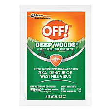 OFF Deep Woods Insect Repellent Towelettes