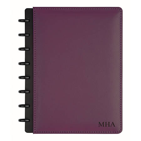 "TUL™ Personalized Custom Note-Taking System Discbound Junior-Size Notebook, 8 1/2"" x 5 1/2"", Purple"