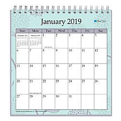 Blue Sky Monthly Desk Calendar 6 X 6 Rue Du Flore January To