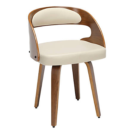OFM 161 Collection Mid-Century Modern Dining Chair, Ivory