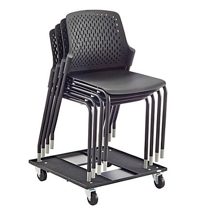 Safco® Next Stacking Chairs, Black, Set Of 4 Chairs