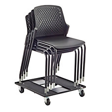 Safco Next Stacking Chairs Black Set
