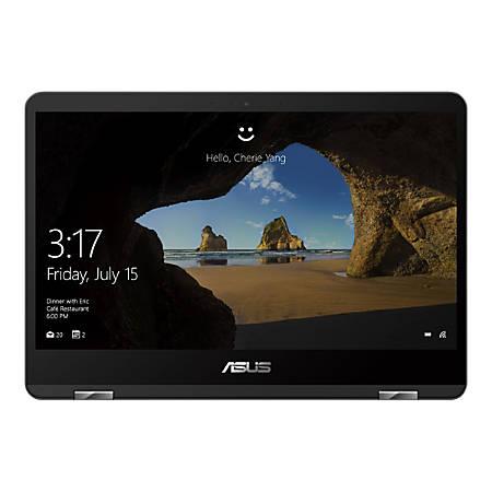 "Asus ZenBook Flip 14 Laptop, 14"" Touchscreen, Intel® Core™ i7, 16 GB Memory, 512 GB Solid State Drive, Windows® 10, Slate Gray"