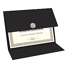 Geographics Double fold Certificate Holder Black