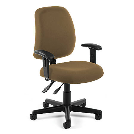 OFM Posture Series Fabric Mid-Back Task Chair, Taupe