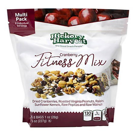 Hickory Harvest Cranberry Fitness Mix, 1-Oz Packets, 8 Packets Per Bag, Pack Of 3 Bags