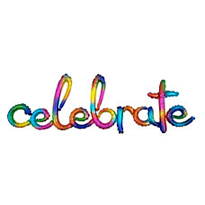 Amscan Celebrate Cursive Balloon Banner 59