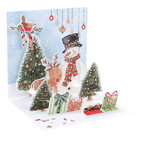 up with paper christmas pop up - Office Depot Christmas Cards