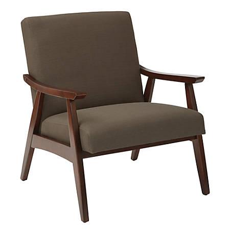 Ave Six Davis Chair, Klein Otter/Medium Espresso