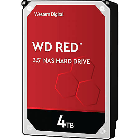 "WD Red™ 4TB 3.5"" Internal Hard Drive For NAS, 64MB Cache, SATA/600, WD40EFRX"