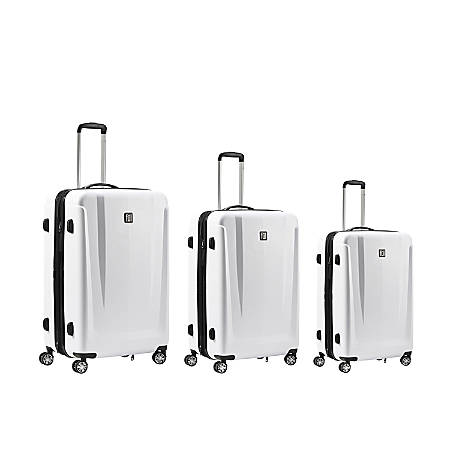 ful Load Rider ABS 3-Piece Rolling Luggage Set, White